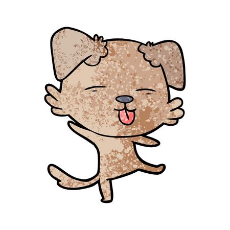 cartoon dancing dog Ilustração