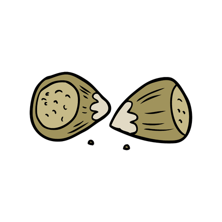 cartoon hazelnuts illustration