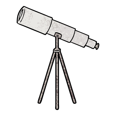 Cartoon telescope Stock Vector - 94839100