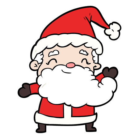 Cartoon Santa Claus Ilustrace