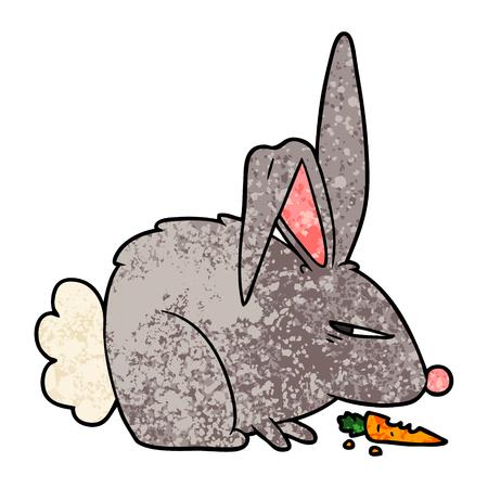 Cartoon annoyed rabbit Illustration