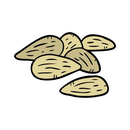 Cartoon almonds
