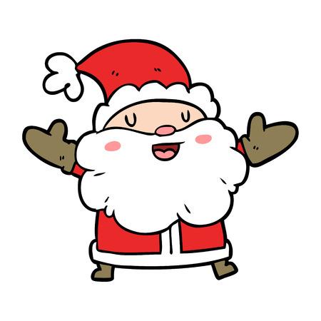 Dessin animé Père Noël Illustration vectorielle. Banque d'images - 94767225