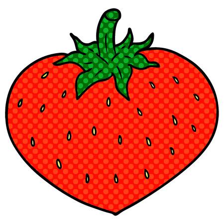 cartoon strawberry illustration. Иллюстрация