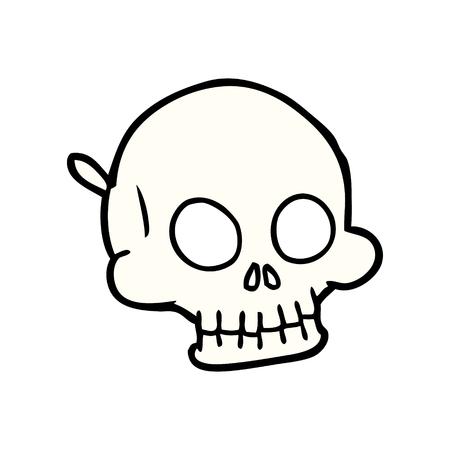 cartoon halloween skull mask Illustration