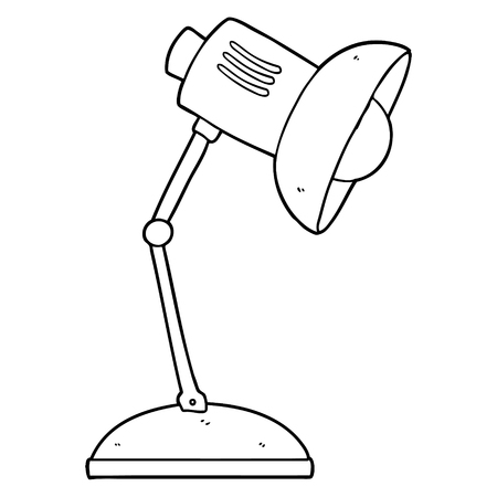 cartoon lamp illustration. Çizim