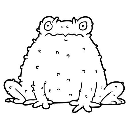Illustration de crapaud de dessin animé. Banque d'images - 94775897
