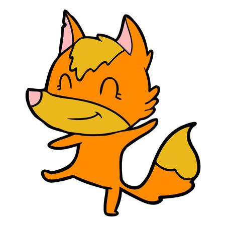 fox cartoon character Vector illustration. Çizim