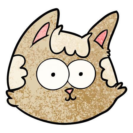 cartoon cat face illustration.