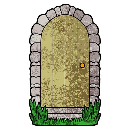 cartoon deuropening illustratie.
