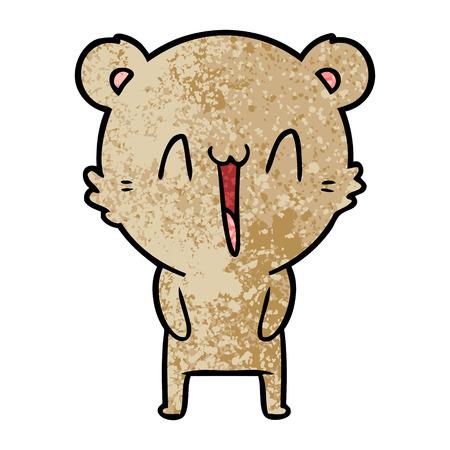 흰색 배경에 행복 곰 만화 그림입니다. 스톡 콘텐츠 - 94806922