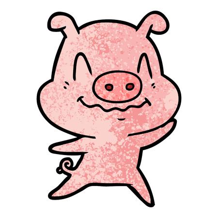 신경 만화 돼지 그림입니다. 일러스트