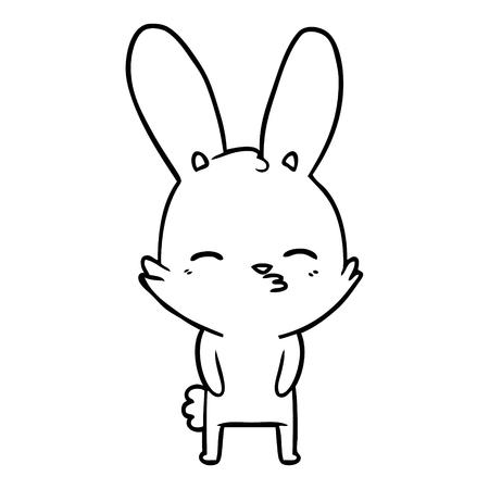 curious bunny cartoon