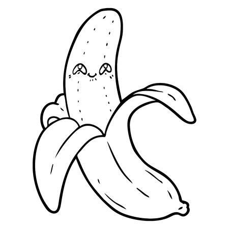cartoon crazy happy banana Illustration