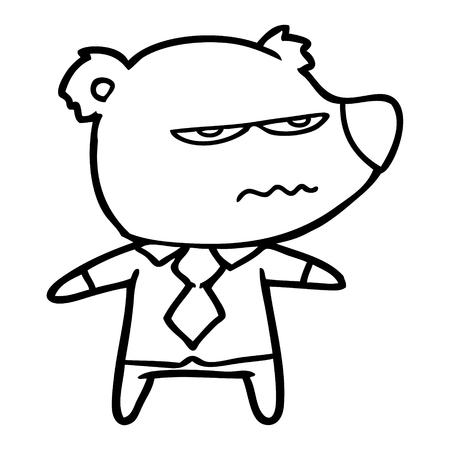 Oso jefe enojado de dibujos animados Foto de archivo - 94920777