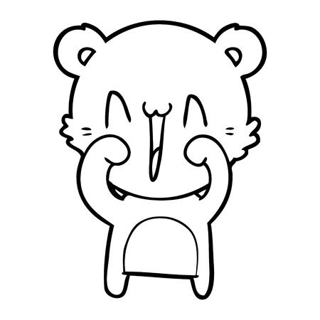행복한 북극곰 만화 스톡 콘텐츠 - 94878716