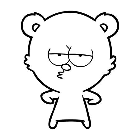 Verveeld ijsbeer cartoon Stock Illustratie
