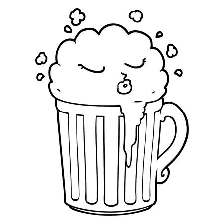 cartoon mug of beer Stock Vector - 94878743