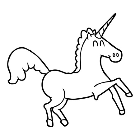 cartoon unicorn illustration