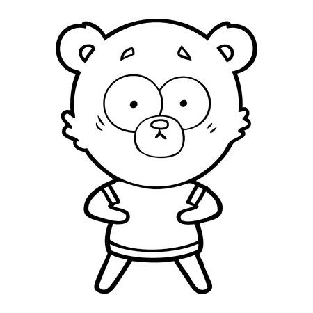 Dessin animé surpris ours polaire Banque d'images - 94878785