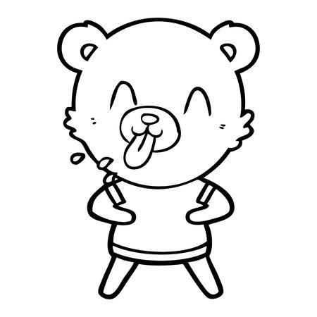 무례한 만화 곰