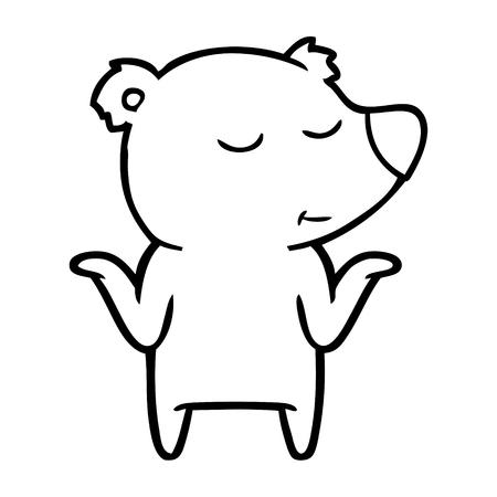 Ours heureux cartoon haussant les épaules Banque d'images - 94882434