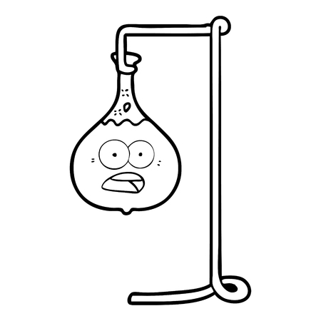 cartoon science experiment Иллюстрация