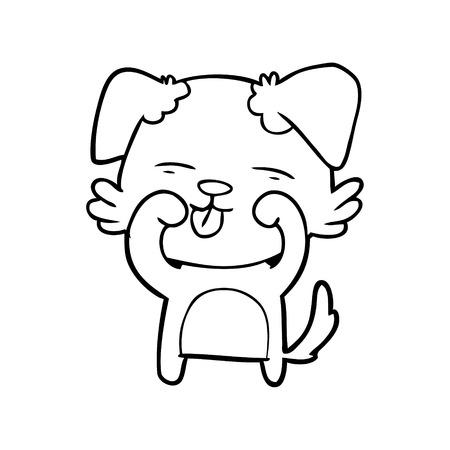 cartoon hond ogen wrijven