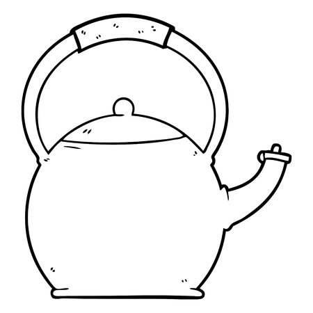 漫画やかんイラスト  イラスト・ベクター素材