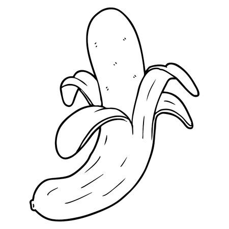 Banana dos desenhos animados Foto de archivo - 94882669