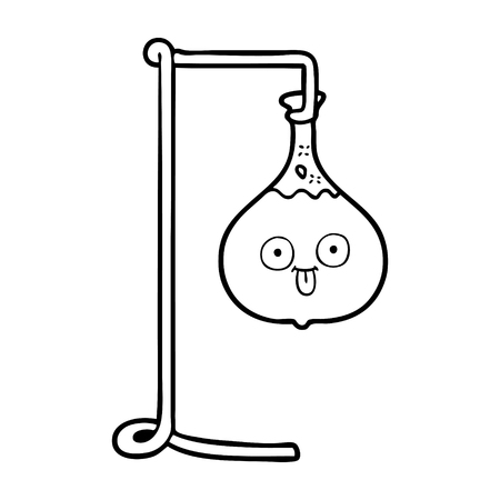 cartoon science experiment 向量圖像