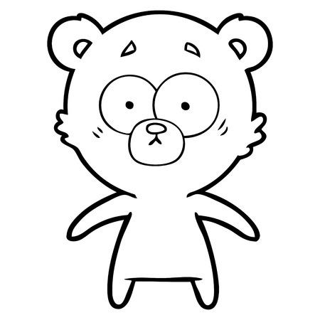 心配クマ漫画  イラスト・ベクター素材