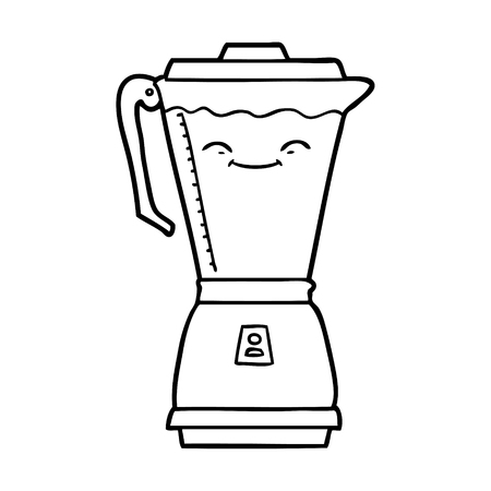 Cartoon food processor Illustration
