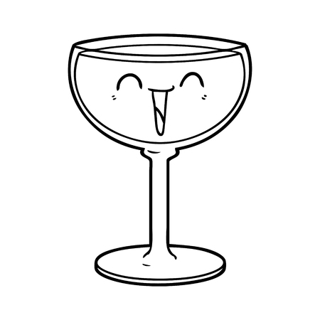 cartoon glass of wine Illustration