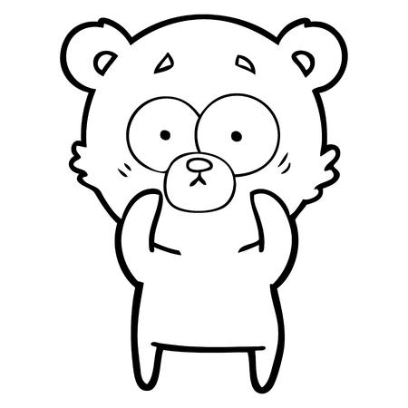 surprised polar bear cartoon