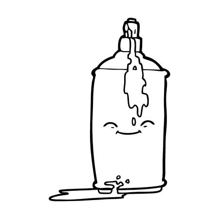 Zwart-wit cartoon spuitbus verf