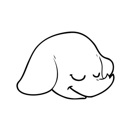 Uma cara do elefante dos desenhos animados no fundo branco. Foto de archivo - 94838296