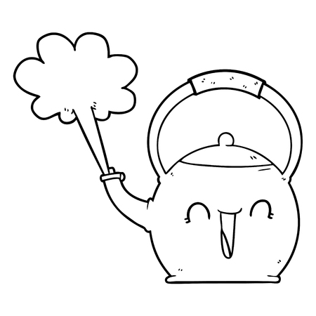 만화 끓는 주전자