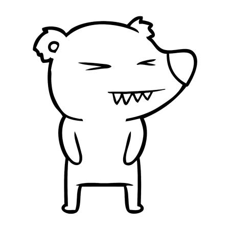 Angry polar bear cartoon Stock Vector - 94843838