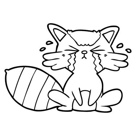 Dessin animé de raton laveur pleurant Banque d'images - 94843828