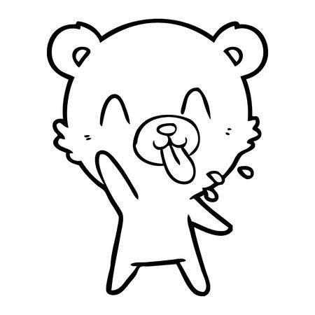무례한 만화 곰 스톡 콘텐츠 - 94844208