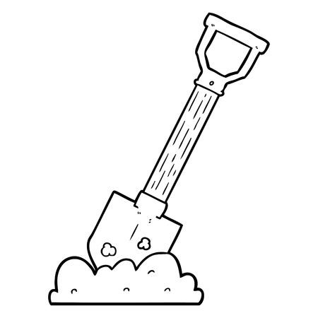 Cartoon shovel Stock Illustratie