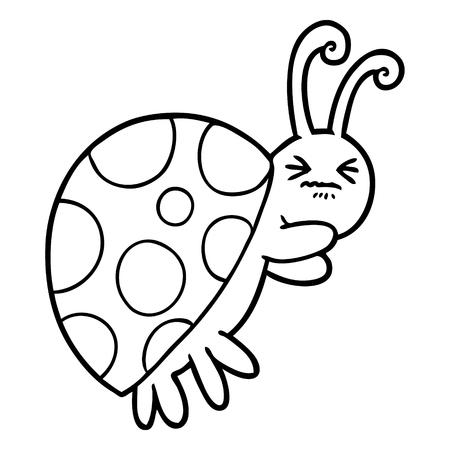 A cartoon of ladybug on white background.