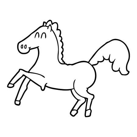 Cartoon horse rearing up
