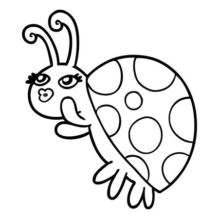 Cartoon ladybug  イラスト・ベクター素材