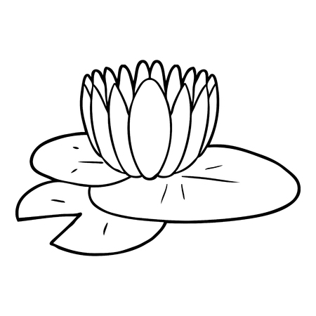 Cartoon water lily Ilustrace