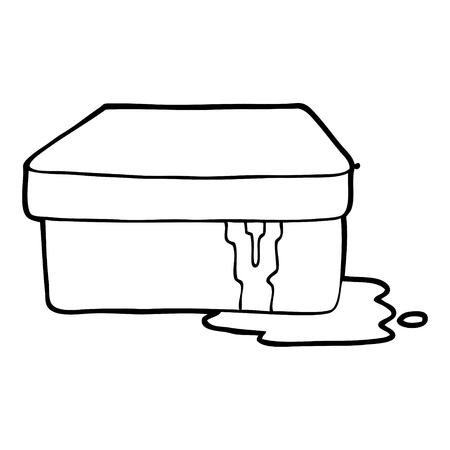 점액으로 만화 상자