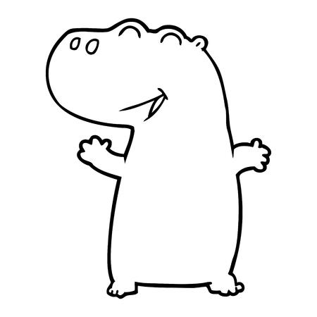 Hippopotame de bande dessinée Banque d'images - 94844805