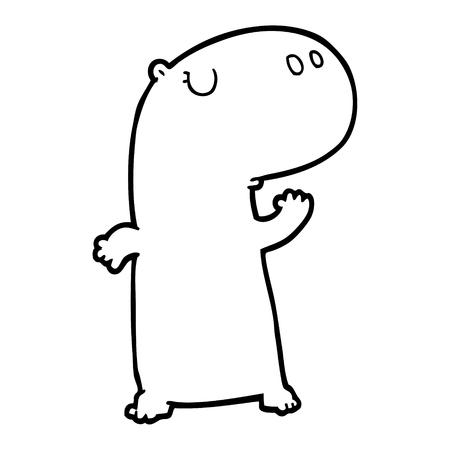 cartoon hippopotamus illustration