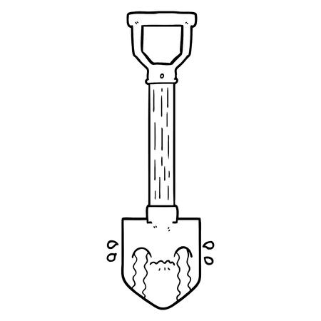 Cartoon crying shovel